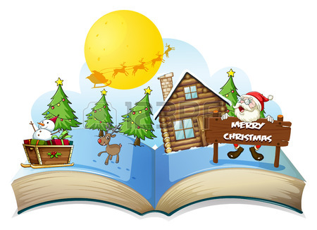 illustration-of-a-popup-christmas-book