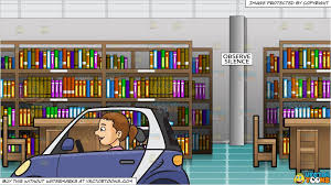 car in library